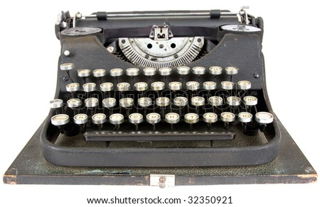 mechanical typewriter - stock photo