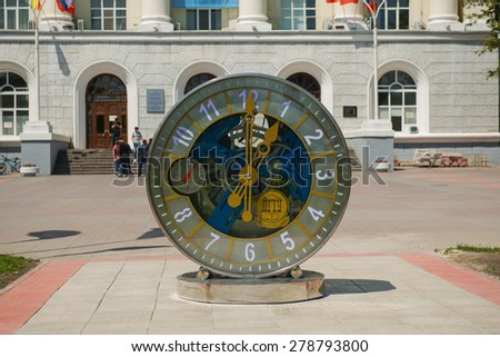 Mechanical watch closeup in Rostov on don - stock photo
