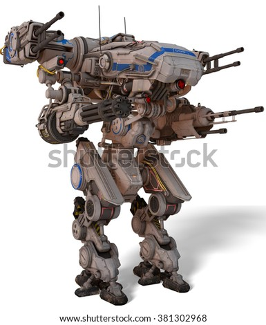 Mechtron side view - stock photo