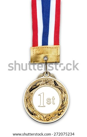 Medal, Medallion, Ribbon.