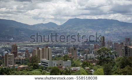 Medellin, the second biggest city in Colombia, which is the capital of the Department of Antioquia. Photo take on 28/07/2016