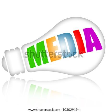 Media concept - stock photo