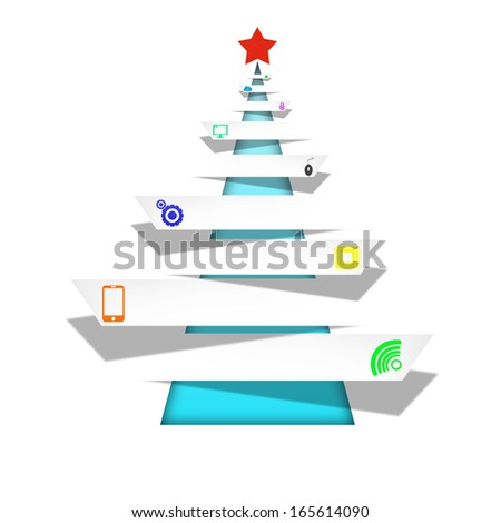 Media creative on cristmas abstract background - stock photo