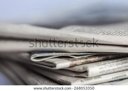 Media, desk, man. - stock photo