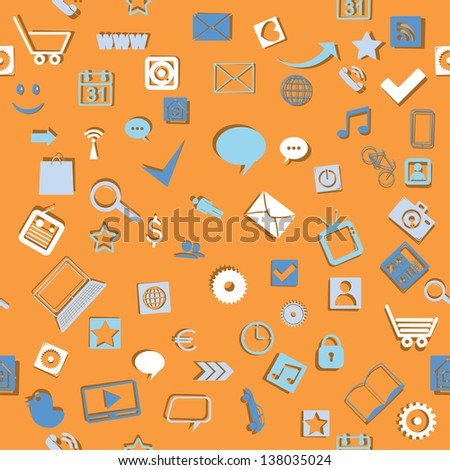 media elements. seamless background.(vector version also available in my gallery)
