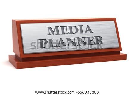 Media Planner Job Title On Nameplate Stock Illustration 656033803 ...