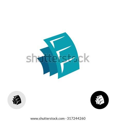 Media sheets logo design. Some docs or photo albums or film symbol. - stock photo