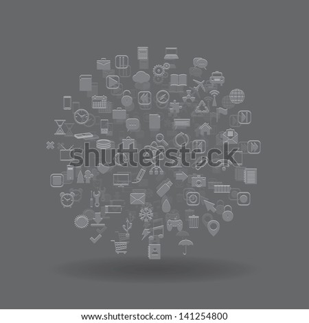 media sphere. abstract background.(vector version also available in my gallery) - stock photo