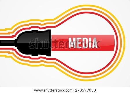 MEDIA word in lightbulb concept - stock photo