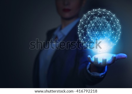 Media worldwide technology concept - stock photo