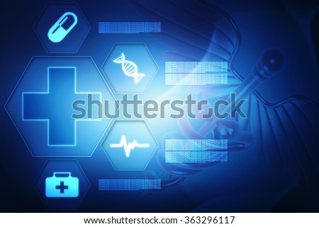 Medical abstract background