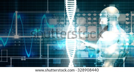 Medical Background for Research and Development Science Concept - stock photo