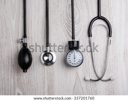Medical background. Medical tools - stock photo