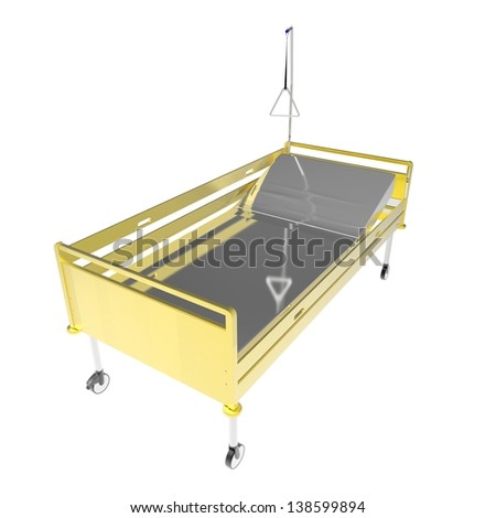 medical Bed on a white background