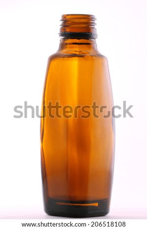 Medical bottle isolated on whote - stock photo