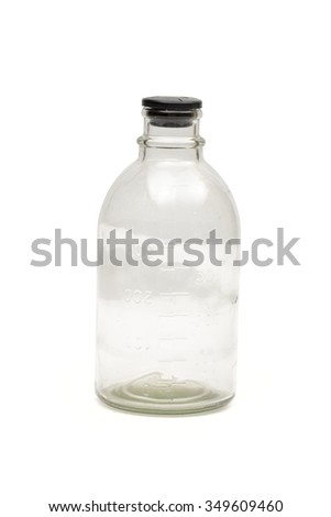 Medical bottle on the white background