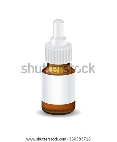 Medical Bottle Template. Isolated Illustration