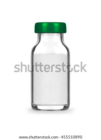 medical bottle with preparation isolated on white background - stock photo