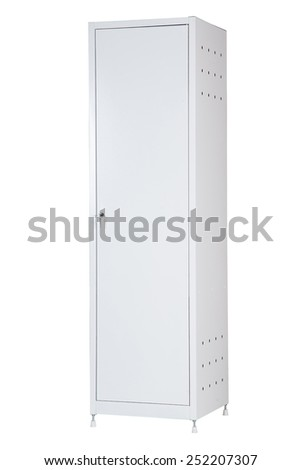 Medical cabinet on a white background