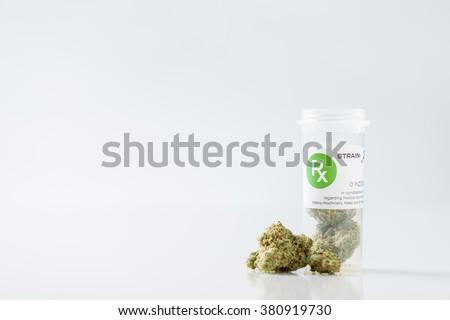 Medical Cannabis Isolated Legal Marijuana - stock photo