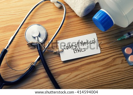 Medical Concept-Code of medical ethics - stock photo