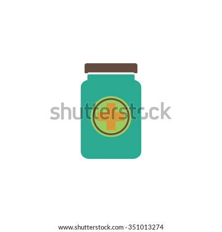 Medical container. Colorful pictogram symbol on white background. Simple icon - stock photo