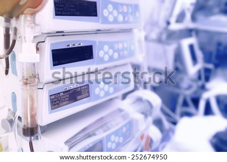 Medical devices for advanced chemotherapy - stock photo