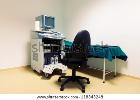 Medical-diagnostic equipment room. Therapeutic and diagnostic rooms with medical equipment.