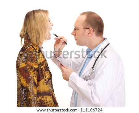 Medical doctor and patient - stock photo