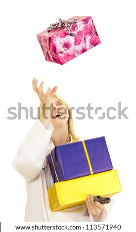 Medical doctor catching a big gift