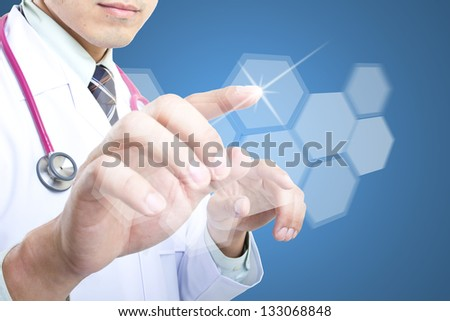 Medical doctor checking your healthy concept  in hospital - stock photo