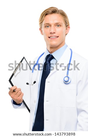 Medical Doctor isolated on white background - stock photo