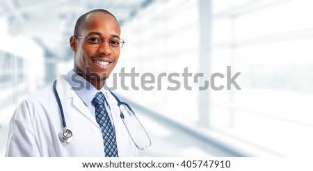 Medical doctor man. - stock photo