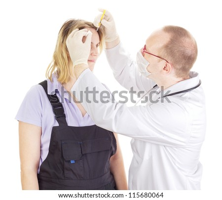 Medical doctor medicate patient