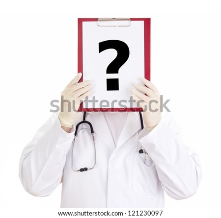Medical doctor with clipboard