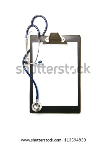 Medical elements isolated on white - stock photo