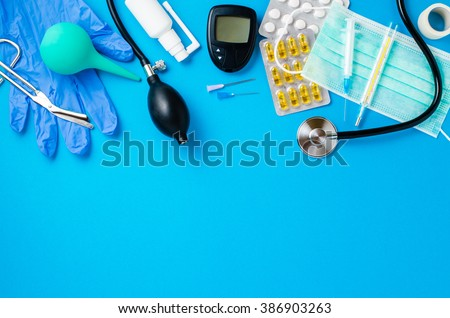 Medical equipment background