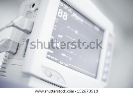 Medical equipment, cardiac monitor - stock photo
