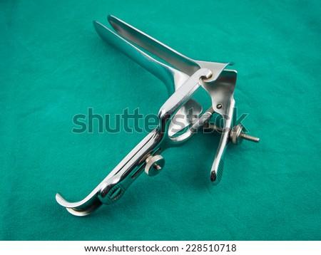 Medical equipment ,Gynecologic Speculum - stock photo