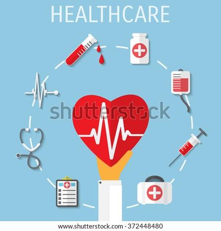 Medical equipment web icon illustration. - stock photo