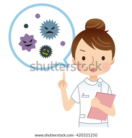 medical explain of cute style character - stock photo