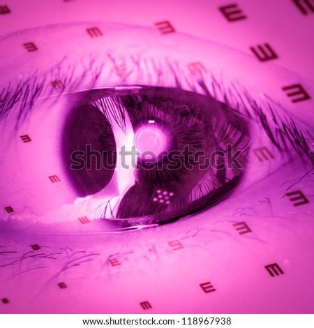 medical eye chart background - stock photo