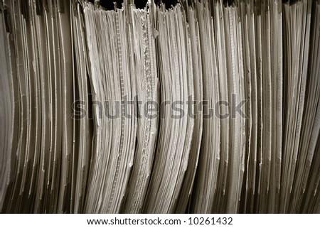 Medical Files - stock photo