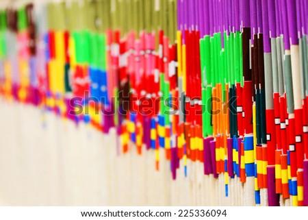 Medical files on a shelf - stock photo