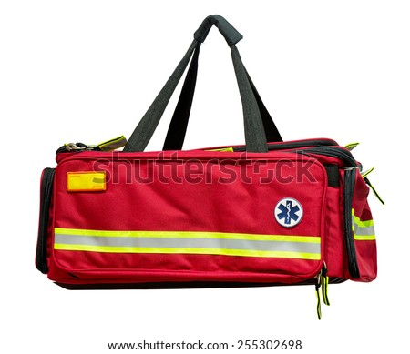Medical first aid bag - stock photo