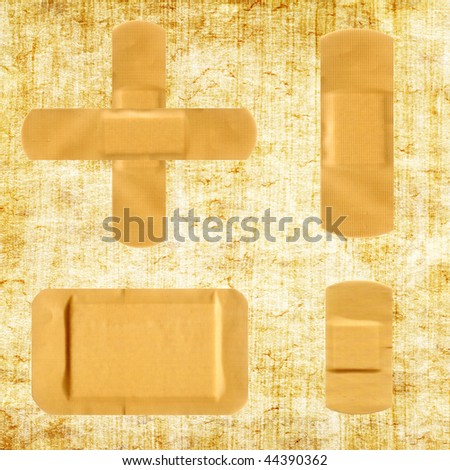 Medical first aid plaster - stock photo