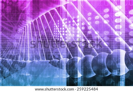 Medical Genetics or Genetic DNA Abstract Image - stock photo