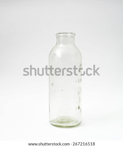 Medical glass bottle - stock photo
