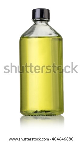 Medical glass bottle on a white background with clipping path - stock photo