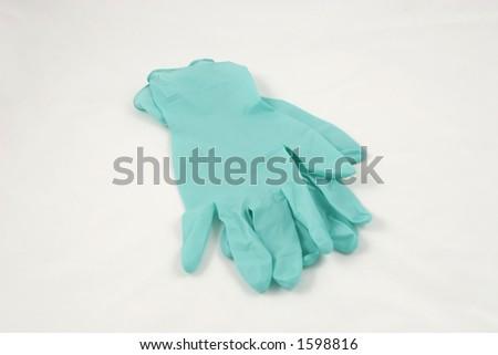 medical gloves - stock photo